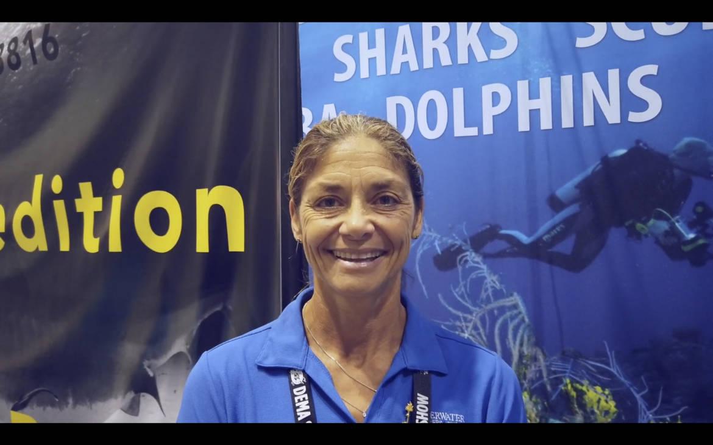 DEMA 2019 shark dancer