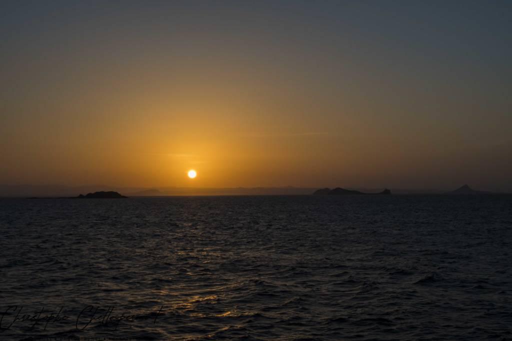 coucher de soleil de djibouti