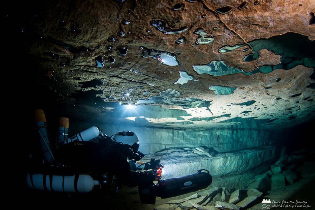 地下ダイビング